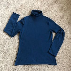 Duluth Mock Ruched Turtleneck Sweater Size M